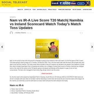 ArchiveBay.com - socialtelecast.com/nam-vs-ir-a-live-score-t20-match-namibia-vs-ireland-scorecard-watch-todays-match-toss-updates/ - Nam vs IR-A Live Score T20 Match- Namibia vs Ireland Scorecard Watch Today's Match Toss Updates