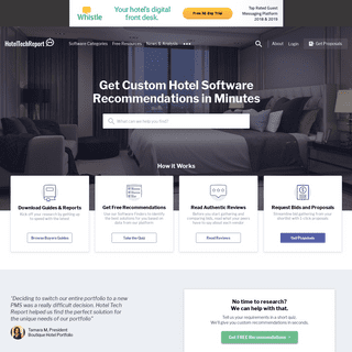 Hotel Tech Report - The Hotel Industry's #1 Software Authority