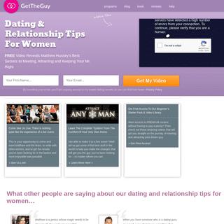 ArchiveBay.com - gettheguy.co.uk - Dating & Relationship Tips For Women - Get The Guy