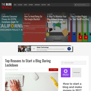 Blogherald - New media and publishing news