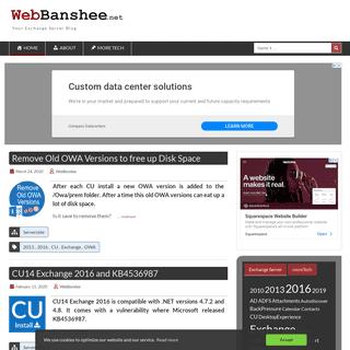 Webbanshee - Your Exchange Server Blog