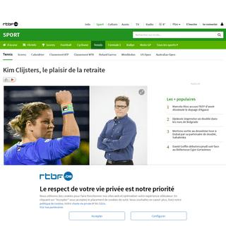 Kim Clijsters, le plaisir de la retraite