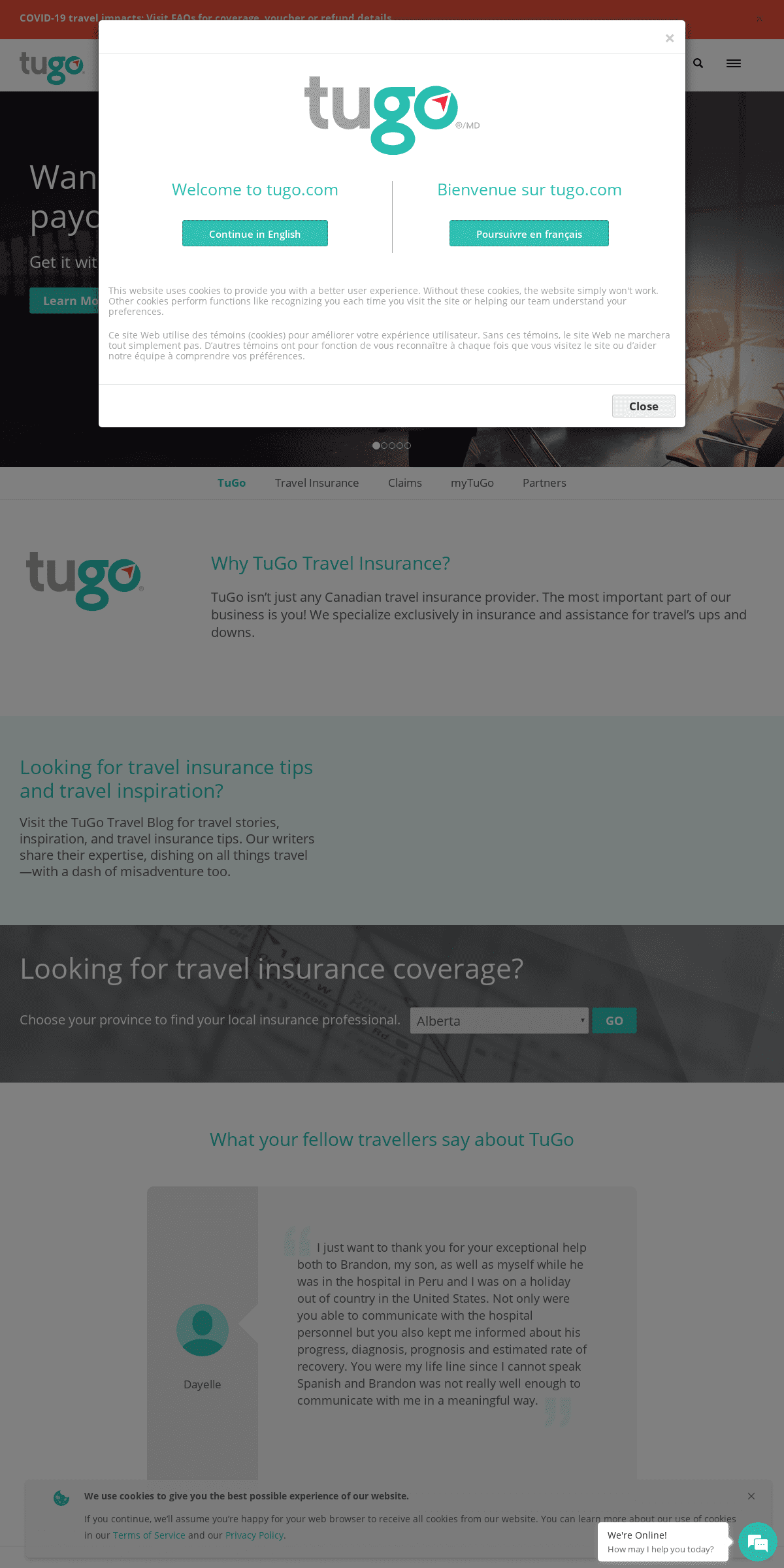 Travel Insurance Canada & Travellers' Insurance Claims - TuGo