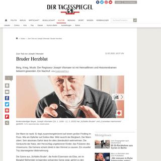 Zum Tod von Joseph Vilsmaier- Bruder Herzblut - Kultur - Tagesspiegel