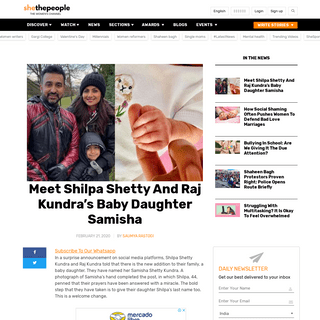 Meet Shilpa Shetty And Raj Kundra's Baby Daughter Samisha
