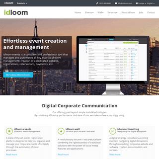 idloom -- Event management software - Social Intranet