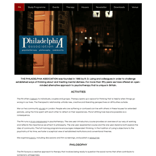 The Philadelphia Association - psychotherapy, philosophy, community