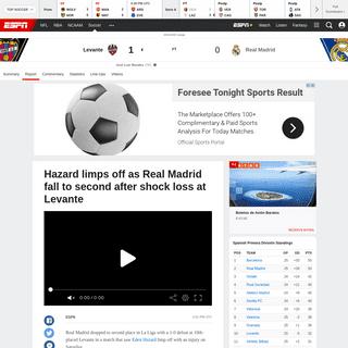 ArchiveBay.com - www.espn.com/soccer/report?gameId=550370 - Levante vs. Real Madrid - Football Match Report - February 22, 2020 - ESPN
