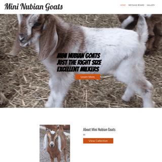 Home - Mini Nubian Goats