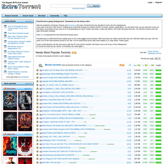 ExtraTorrent.cc The World's Largest BitTorrent System