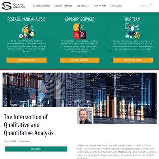 Home Page - Creative Strategies, Inc - Creative Strategies, Inc