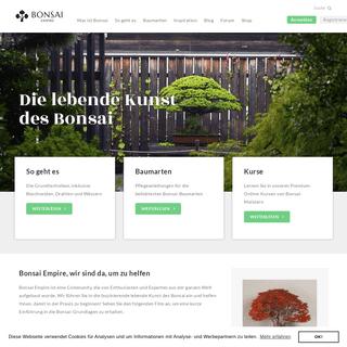 Pflege und Gestaltung von Bonsai Bäumen - Bonsai Empire