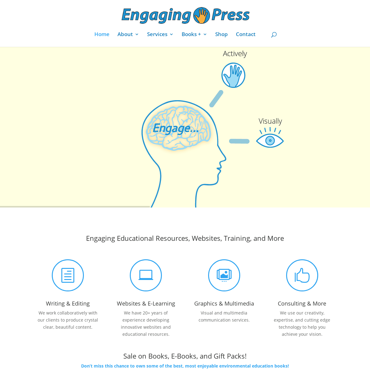Engaging Press - Books, Curriculum Development, E-Learning, Websites & More!
