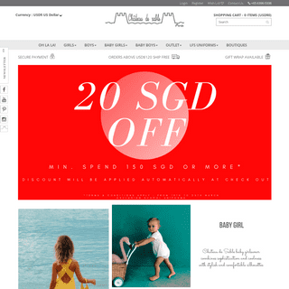 Children Clothes Online Store in Singapore - Château de Sable