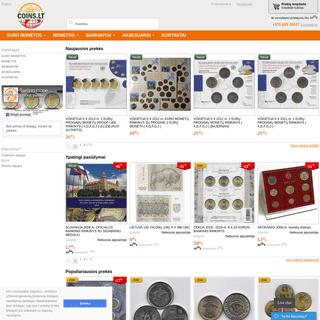 COINS.LT - didžiausia monetų ir banknotų e-parduotuvė Rytų ir Vidurio Europoje