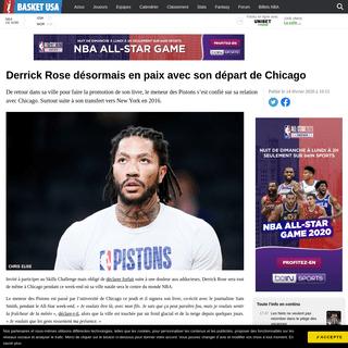 Derrick Rose désormais en paix avec son départ de Chicago - Basket USA