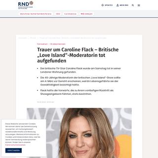 """Trauer um Caroline Flack – Britische """"Love Island""""-Moderatorin tot aufgefunden"""
