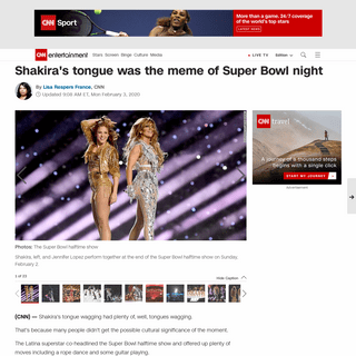 Shakira's tongue was the meme of Super Bowl night - CNN