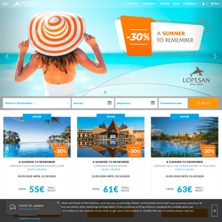 Lopesan Hotels - The holidays you dreamed of - Official Site