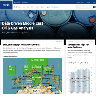 Data Driven Middle East Oil & Gas Analysis - MEES