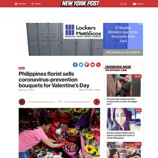 Philliipines florist sells anti-coronavirus bouquets for Valentine's Day