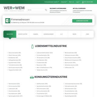 Firmenadressen kaufen für Dialogmarketing- wer-zu-wem.de