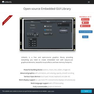LittlevGL - Open-source Embedded GUI Library