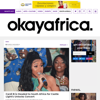 ArchiveBay.com - www.okayafrica.com/cardi-b-south-africa-castle-light-unlocks/ - Cardi B is Headed to South Africa for Castle Light's Unlocks Concert - OkayAfrica