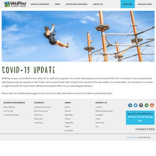WildPlay Aerial Adventures & Ziplines - WildPlay Element Parks