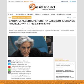 BARBARA ALBERTI, PERCHE' HA LASCIATO IL GRANDE FRATELLO VIP 4-- -Elia simulatrice-