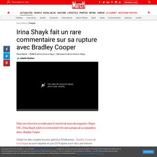 Irina Shayk fait un rare commentaire sur sa rupture avec Bradley Cooper