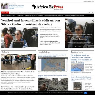Homepage - Africa Express- notizie dal continente dimenticato