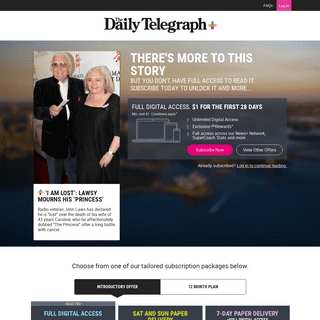 ArchiveBay.com - www.dailytelegraph.com.au/entertainment/sydney-confidential/i-am-lost-radio-legend-john-laws-announces-death-of-wife-caroline-following-cancer-battle/news-story/53ae40c39af60158c8790e73a61d5ff3 - Dailytelegraph.com.au - Subscribe to The Daily Telegraph for exclusive stories