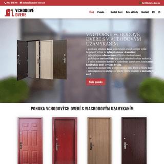 Vchodové dvere s viac bodovým uzamykacím systémom - Kvalitné dvere