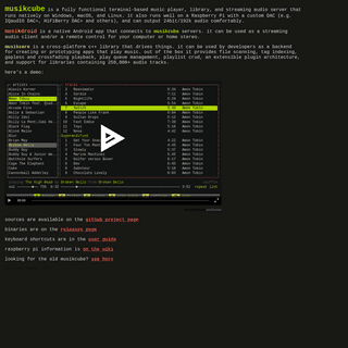 A complete backup of musikcube.com