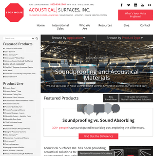 Acoustical Materials & Soundproofing Solutions - Acoustical Surfaces