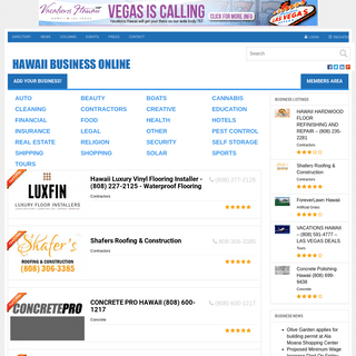Hawaii Business Directory - Business News - Business Events
