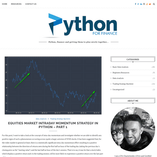 Python For Finance – Python, finance and getting them to play nicely together…