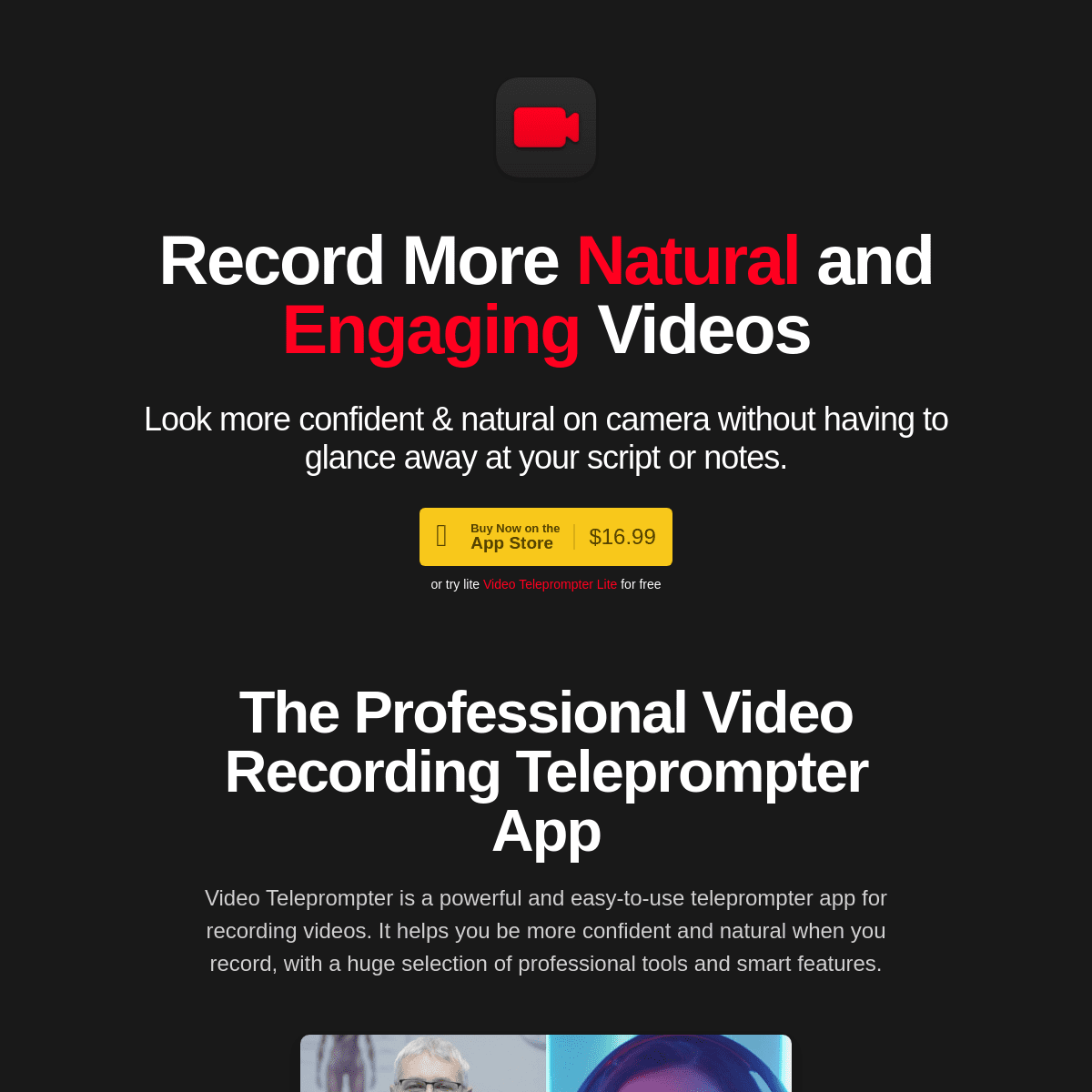 Video Teleprompter for iOS