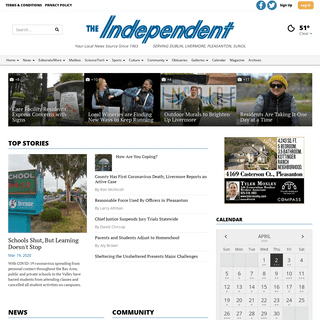 independentnews.com - Serving Livermore, Pleasanton and Sunol--Locally Owned and Edited Since 1963