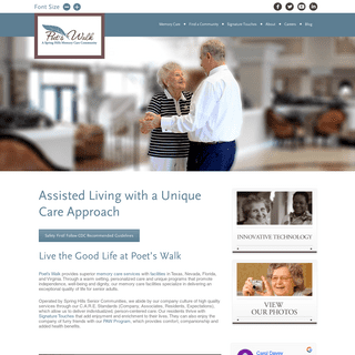 Memory Care Facilities - Assisted Living - Poet's Walk