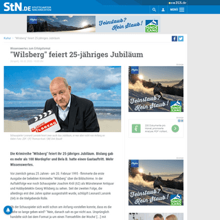 Wissenswertes zum Erfolgsformat- Wilsberg feiert 25-jähriges Jubiläum - Kultur - Stuttgarter Nachrichten