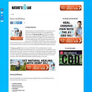 Natures Lab CBD - Get NATURAL Healing! - Special Offer