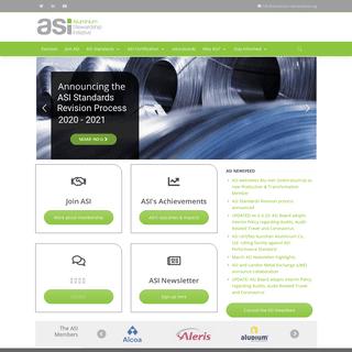 ASI Home - Aluminium Stewardship Initiative