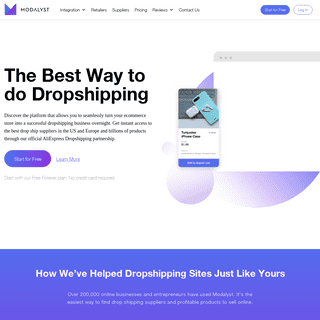 Best Dropshipping 2020 - Dropshipping Software by Modalyst -