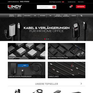 USB, HDMI, Netzwerk, AV, KVM, Switches, Kabel, Stecker und Adapter von LINDY Deutschland - LINDY DE