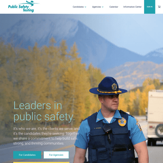 Public Safety Testing - Home page