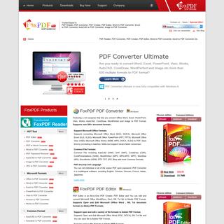FoxPDF PDF Reader, FoxPDF PDF Converter, FoxPDF PDF Editor, PDF Creator, Word, Excel, PowerPoint, AutoCAD, Image to PDF Converte