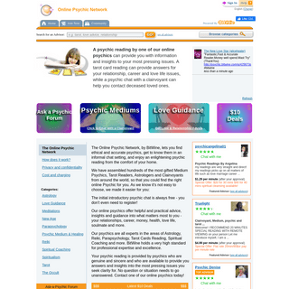 Online Psychic Reading, Live Psychic Chat at the Online Psychic Network