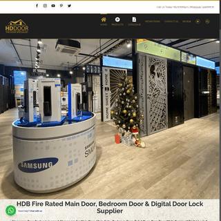 HDB Main Door, Bedroom Door, Toilet Door & Digital Door Lock Supplier
